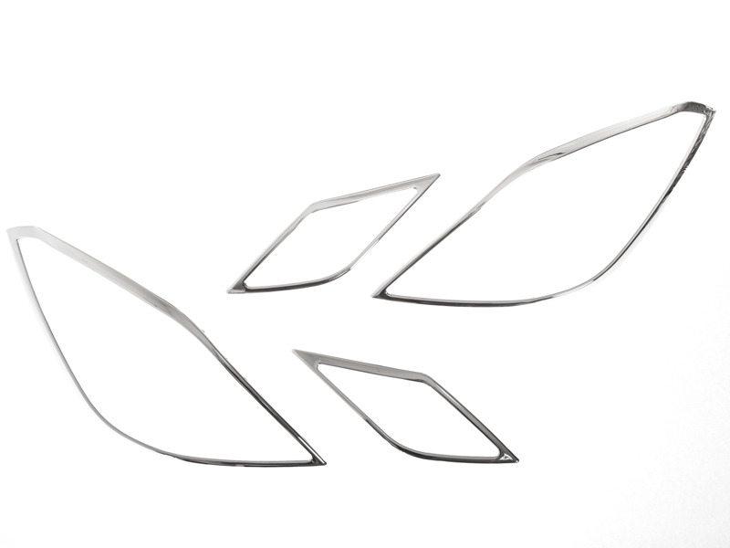 メルセデスベンツ Eクラス W207 クーペ クロームメッキ フロントランプリム ヘッドライト トリム ベゼルカバー【___OCS】