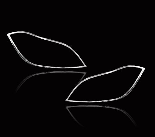 メルセデス ベンツ CLSクラス W218用 クロームメッキ フロントランプリム ヘッドライト トリム ヘッドランプリム ベゼルカバー【___OCS】