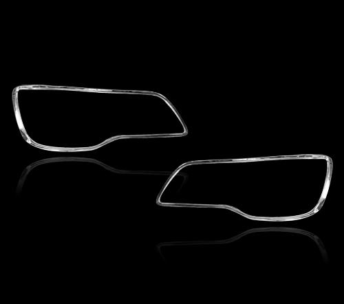 クライスラー 300C 2代目用 クロームメッキ フロントランプリム ヘッドライト トリム ヘッドランプリム ベゼルカバー【___OCS】