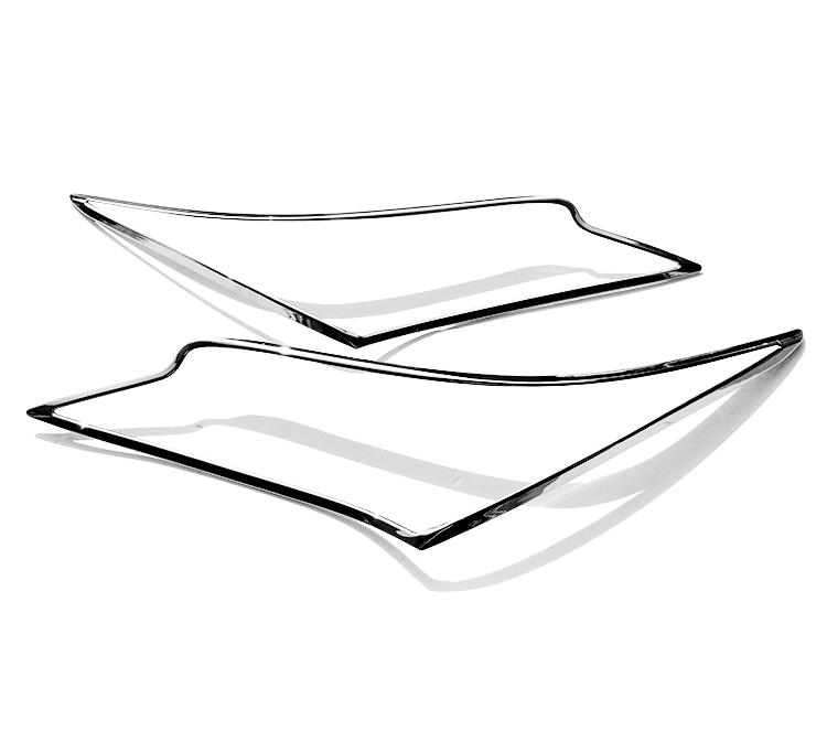 レクサス RX350 4代目用 クロームメッキ フロントランプリム ヘッドライト トリム ヘッドランプリム ベゼルカバー【___OCS】
