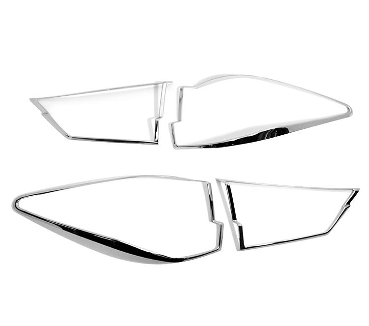 レクサス RX350 4代目用 クロームメッキ テールランプリム リアランプリム テールライト トリム ベゼルカバー【___OCS】