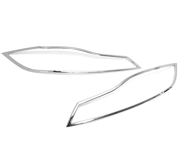 ジャガー Fペイス X761用 クロームメッキ フロントランプリム ヘッドライト トリム ヘッドランプリム ベゼルカバー【___OCS】
