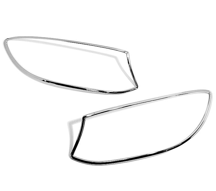 メルセデス ベンツ Sクラス C217 クーペ用 クロームメッキ フロントランプリム ヘッドライト トリム ヘッドランプリム ベゼルカバー【___OCS】