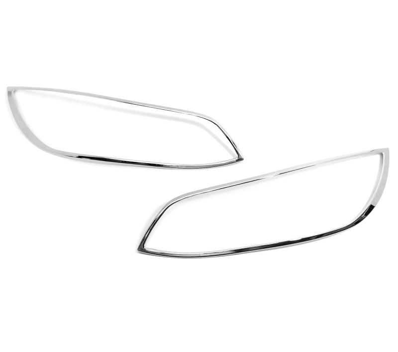 BMW 3シリーズ E92 クーペ用 前期 2006-2009 クロームメッキ フロントランプリム ヘッドライト トリム ヘッドランプリム ベゼルカバー【___OCS】
