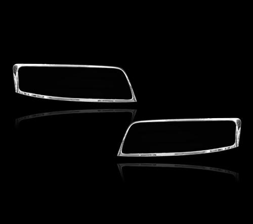 アウディA4 2代目 B6系用 2001-2005 クロームメッキ フロントランプリム ヘッドライト トリム ヘッドランプリム ベゼルカバー【___OCS】