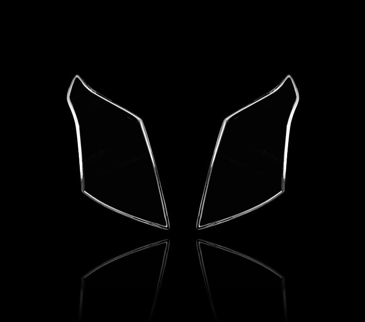 キャデラック SRX用 2010-2016 クロームメッキ フロントランプリム ヘッドライト トリム ヘッドランプリム ベゼルカバー【___OCS】