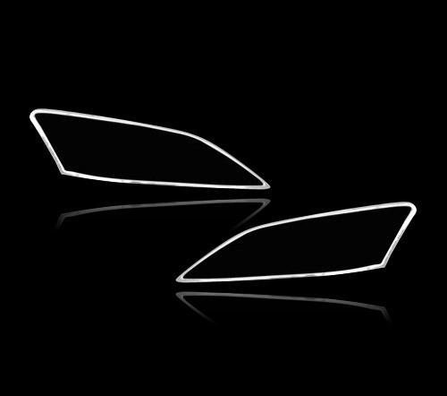 レクサスES 350 XV40 5代目前期用 2000-2009 クロームメッキ フロントランプリム ヘッドライト トリム ヘッドランプリム ベゼルカバー【___OCS】