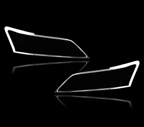 レクサスGS 250用 2012+ クロームメッキ フロントランプリム ヘッドライト トリム ヘッドランプリム ベゼルカバー【___OCS】
