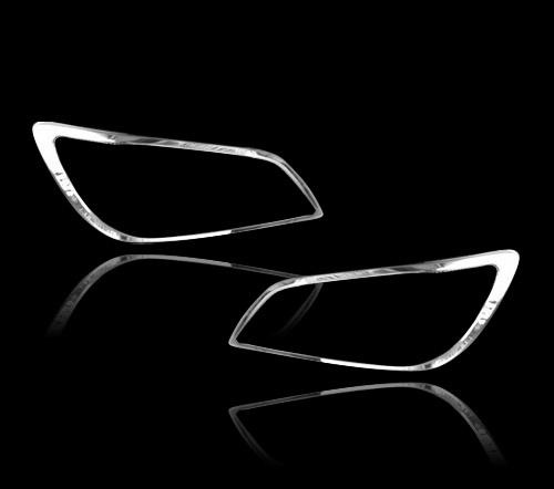 レクサス IS200用 2000-2005 クロームメッキ フロントランプリム ヘッドライト トリム ヘッドランプリム ベゼルカバー【___OCS】