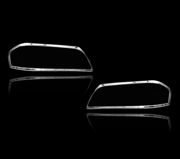 メルセデスベンツ Cクラス W202用 1993-2000 クロームメッキ フロントランプリム ヘッドライト トリム ヘッドランプリム ベゼルカバー【___OCS】
