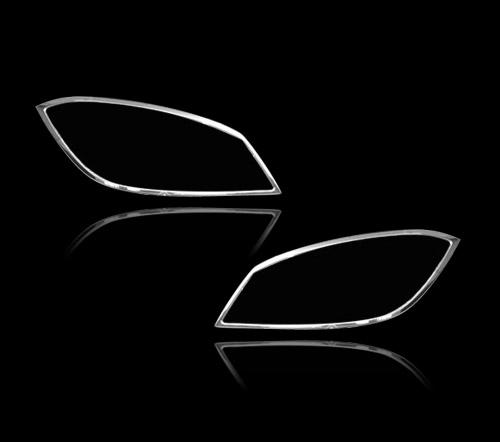 メルセデスベンツ Cクラス W204 ワゴン用 2007-2011 クロームメッキ フロントランプリム ヘッドライト トリム ヘッドランプリム ベゼルカバー【___OCS】