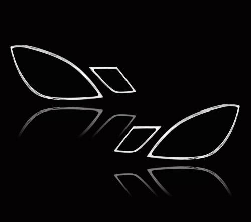 メルセデスベンツ Eクラス W212セダン 後期用 2009-2013 クロームメッキ フロントランプリム ヘッドライト トリム ヘッドランプリム ベゼルカバー【___OCS】
