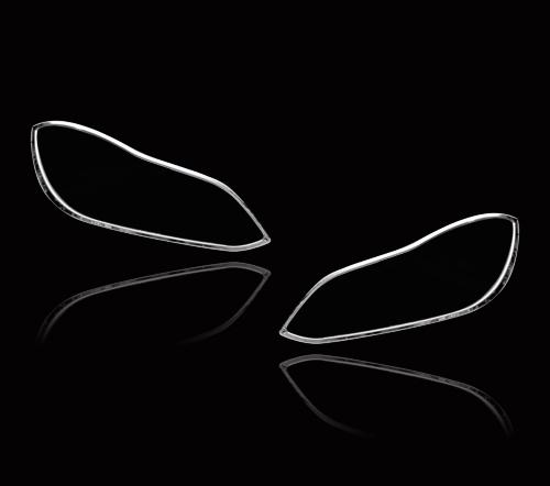 メルセデスベンツ Eクラス W212 ワゴン 後期用 2013-2016 クロームメッキ フロントランプリム ヘッドライト トリム ヘッドランプリム ベゼルカバー【___OCS】