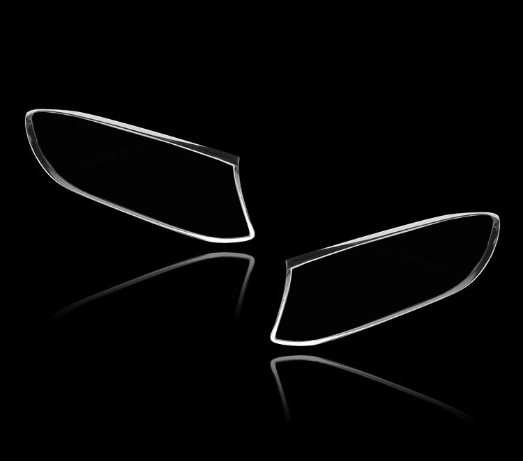 メルセデスベンツ GLCクラス C253用 クーペ SUV 2016+ クロームメッキ フロントランプリム ヘッドライト トリム ヘッドランプリム ベゼルカバー【___OCS】