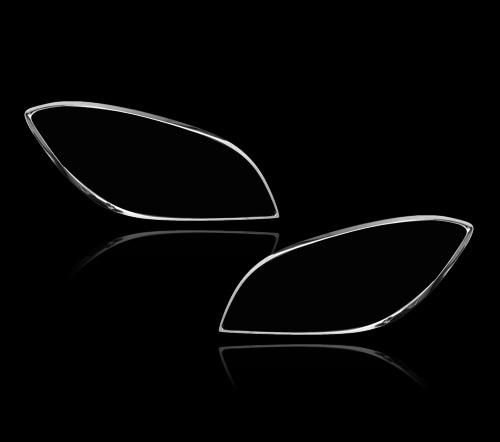 メルセデスベンツ MLクラス W166用 2012-2015 クロームメッキ フロントランプリム ヘッドライト トリム ヘッドランプリム ベゼルカバー【___OCS】