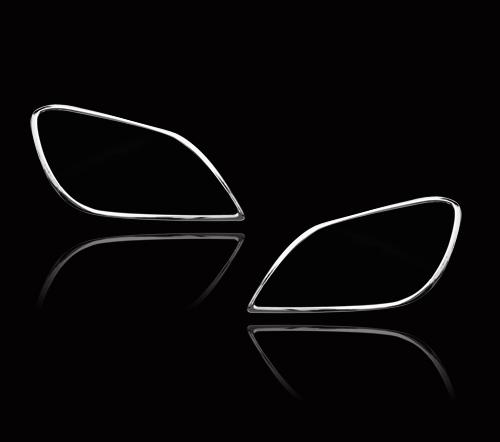 メルセデスベンツ SLKクラス R172用 2011-2019 クロームメッキ フロントランプリム ヘッドライト トリム ヘッドランプリム ベゼルカバー【___OCS】