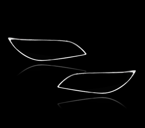 マツダ3 アクセラ用 セダン 細型 2004-2009 クロームメッキ フロントランプリム ヘッドライト トリム ヘッドランプリム ベゼルカバー【___OCS】