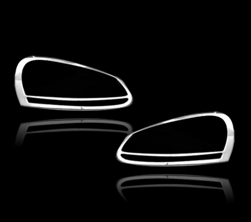 VW ジェッタ用 2005-2010 2005-2010 2005-2010 クロームメッキフロントランプリムヘッドライト トリムヘッドランプリム ベゼルカバー【___OCS】 d2c