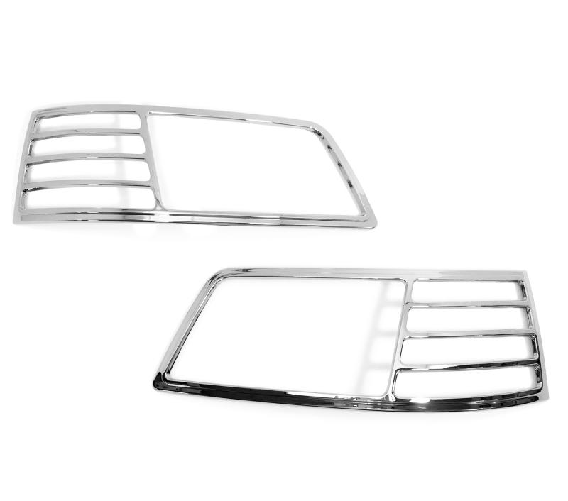VW T5用 2003-2009 クロームメッキフロントランプリムヘッドライト トリムヘッドランプリム ベゼルカバー【___OCS】
