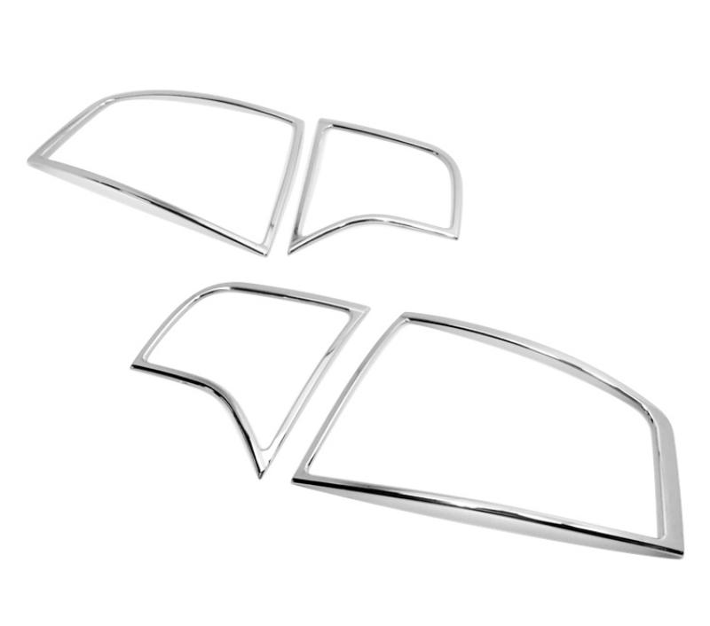 アウディ A4 B7 セダン 2005-2008用 クロームメッキ テールランプリム リアランプリム テールライト トリム ベゼルカバー【___OCS】