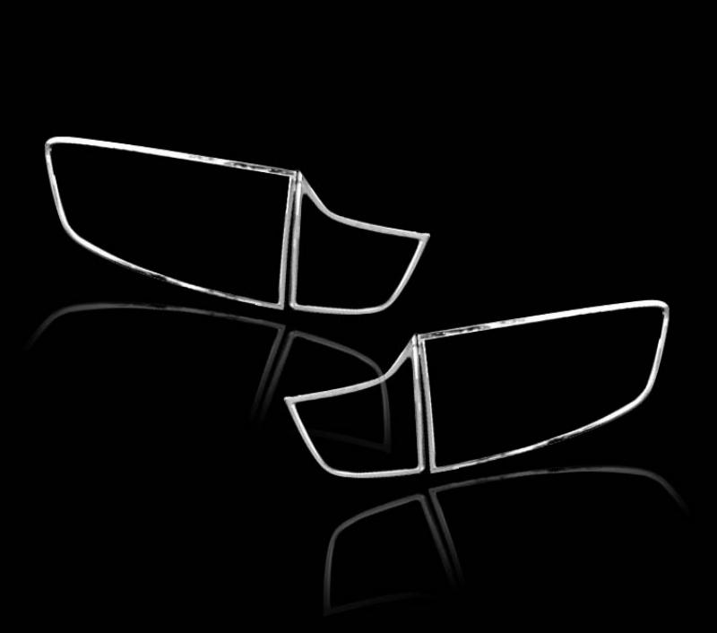 BMW X6 E71 / E72 2008-2014用 クロームメッキ テールランプリム リアランプリム テールライト トリム ベゼルカバー【___OCS】
