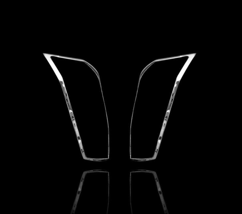 キャデラック SRX 2代目 2010-2016用 クロームメッキ テールランプリム リアランプリム テールライト トリム ベゼルカバー【___OCS】