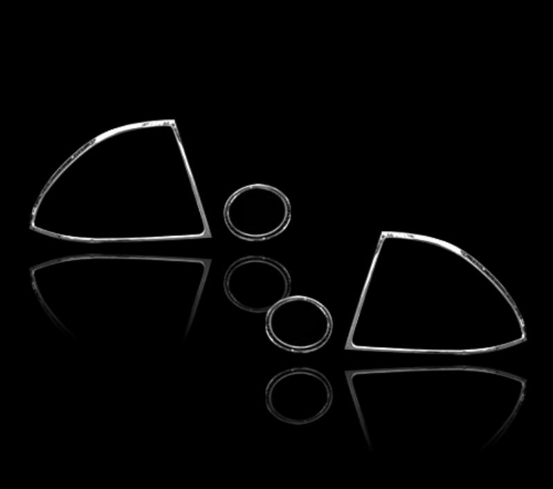 レクサス IS200 XE10 初代 セダン 2000-2005用 クロームメッキ テールランプリム リアランプリム テールライト トリム ベゼルカバー【___OCS】
