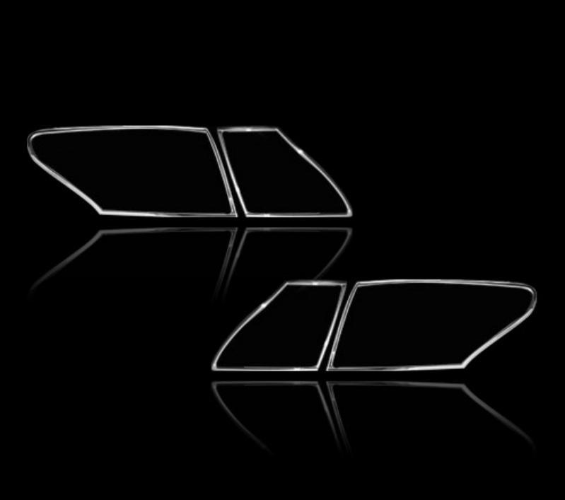 レクサス LS460 XF40 4代目 セダン 2009-2012用 クロームメッキ テールランプリム リアランプリム テールライト トリム ベゼルカバー【___OCS】