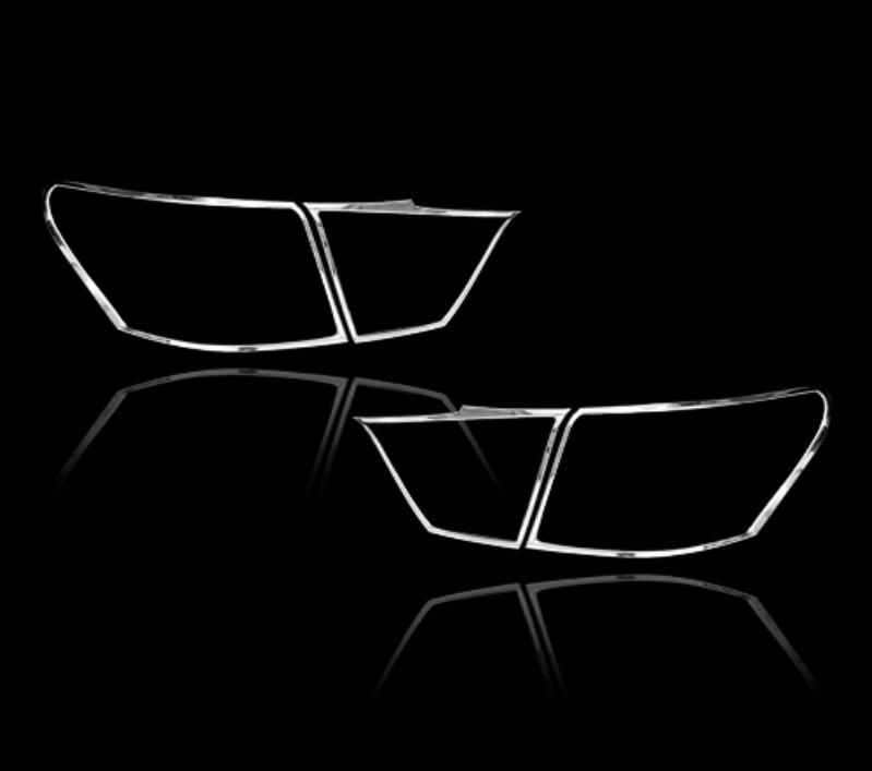 レクサス LS460 XF40 4代目 セダン 2013-2017用 クロームメッキ テールランプリム リアランプリム テールライト トリム ベゼルカバー【___OCS】