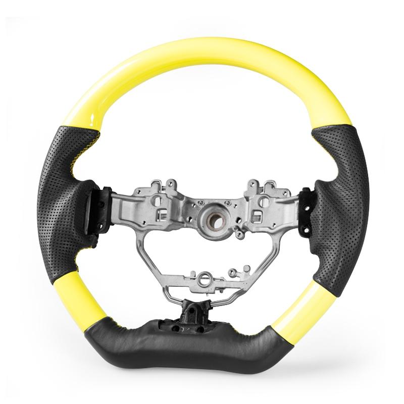 レクサス IS CT NX IS200 CT200h NHX00用 フラットスポーツステアリングホイールイエロー×ブラックレザー【___OCS】