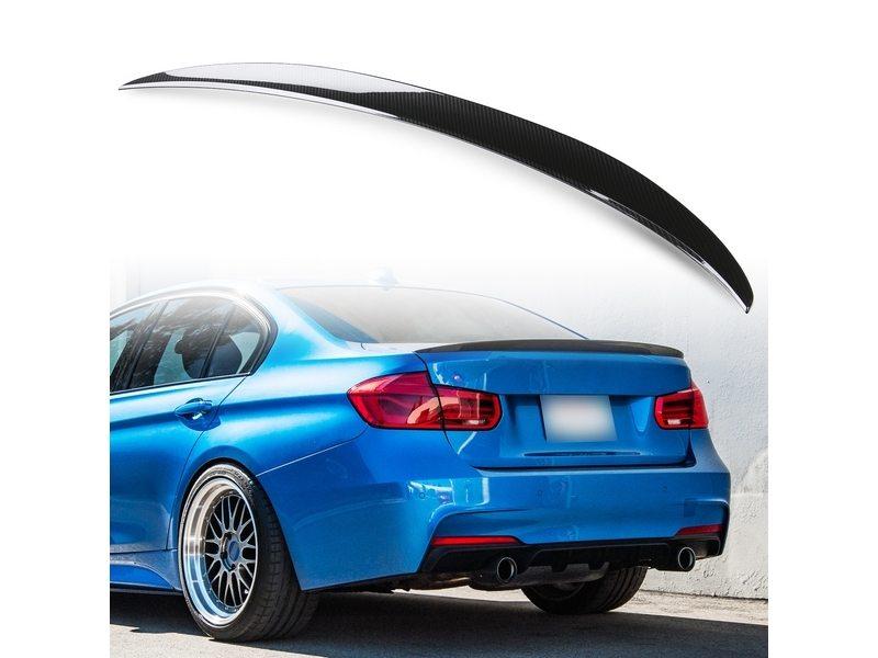 BMW F30 F80 M3用 セダン ABS製 カーボン調(水圧転写) リアトランクスポイラー Pスタイル【___OCS】