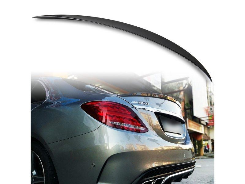 メルセデスベンツ Cクラス W205用 セダン ABS製 カーボン調(水圧転写) リアトランクスポイラー Aタイプ【___OCS】