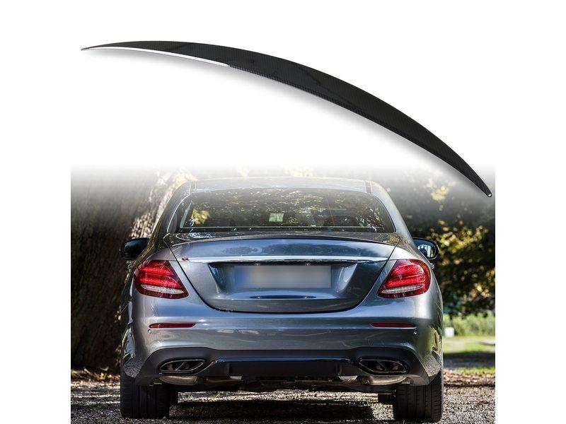 メルセデスベンツ Eクラス W213用 セダン ABS製 カーボン調(水圧転写) リアトランクスポイラー Aタイプ【___OCS】