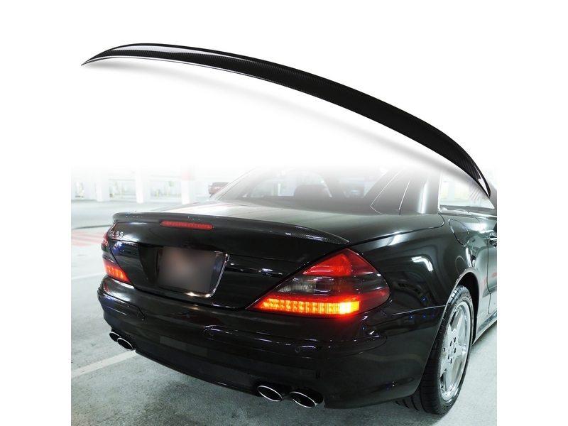 メルセデスベンツ SLクラス R230用 ABS製 カーボン調(水圧転写) リアトランクスポイラー Aタイプ【___OCS】