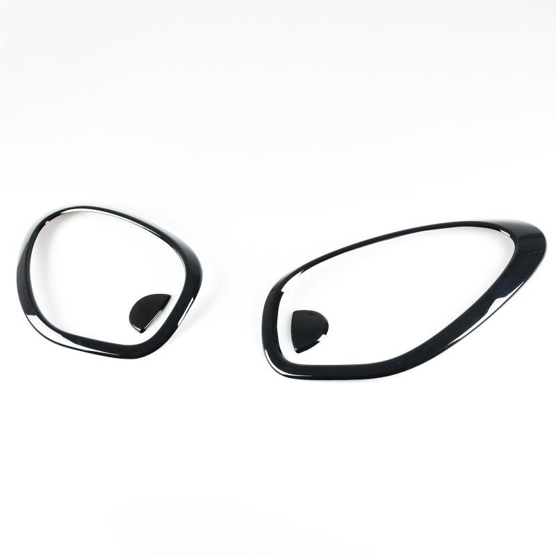 ミニクーパー R60 R61用 2010-2016 光沢グロスブラック ヘッドランプリム フロントランプリム ヘッドライトトリム 4PCS【___OCS】