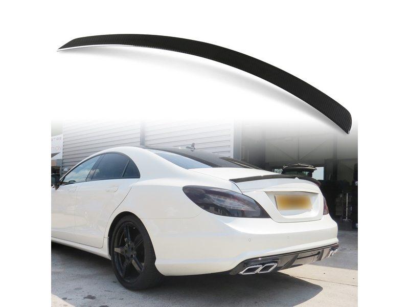 メルセデスベンツ CLSクラス W218用 ABS製 カーボン調(水圧転写) リアトランクスポイラー Aタイプ【___OCS】