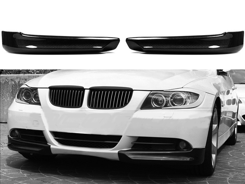 BMW E90 純正バンパー用カーボンフロントバンパースプリッター/3シリーズ/外装/エアロパーツ 送料無料【___OCS】