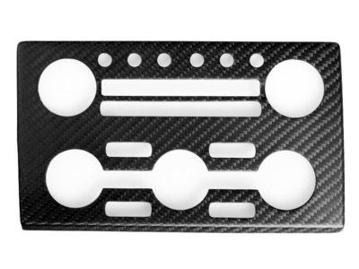 (左ハンドルのみ対応)日産 Nissan GTR R35 ドライカーボン ACオーディオパネルカバー/インテリアパーツ/内装 送料無料【___OCS】