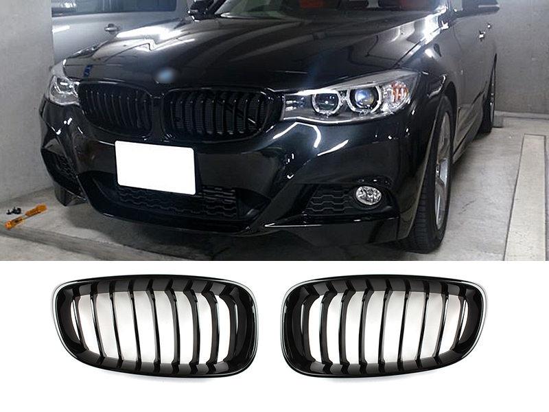 BMW F34 3GT 320i 328i 335i 2014-2015年 光沢グロスブラック フロントグリル 送料無料【___OCS】