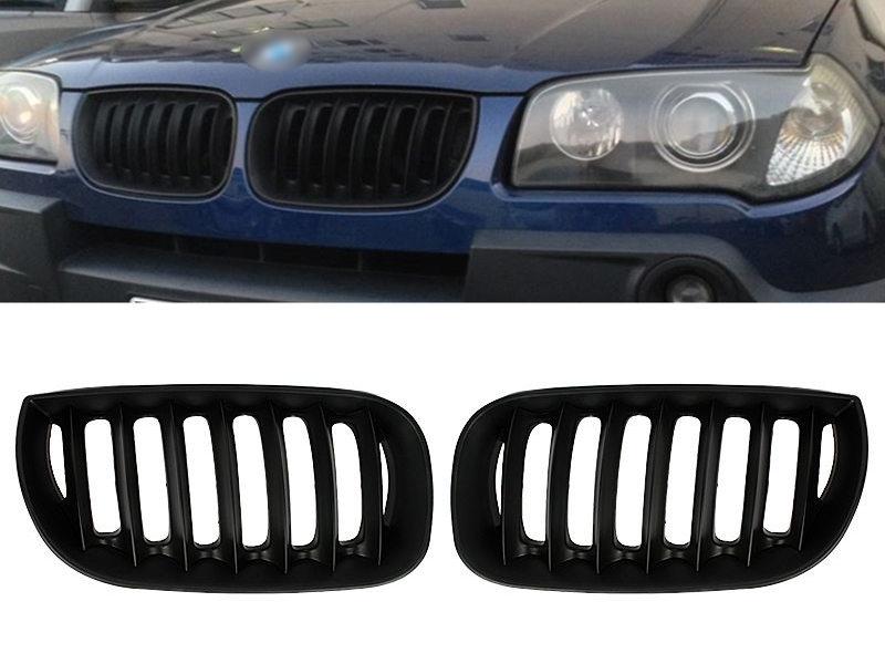 BMW E83 X3 前期 OEタイプ マットブラック キドニー フロント グリル 送料無料【___OCS】