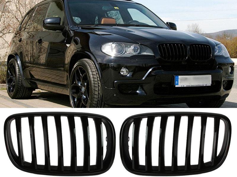 BMW E70 X5 E71 X6 光沢グロスブラック フロントグリル 【___OCS】