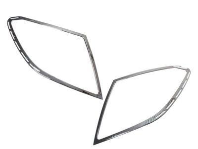 ベンツ W204 クローム メッキ リアランプリム テールライト トリム ベゼルカバー【___OCS】