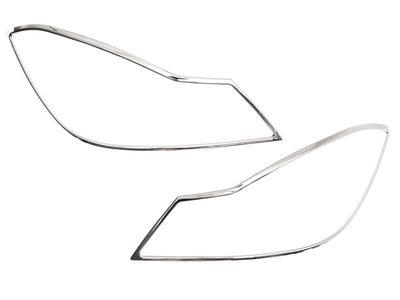 ベンツ W204 クローム メッキ フロントランプリム ヘッドライト トリム ベゼルカバー【___OCS】