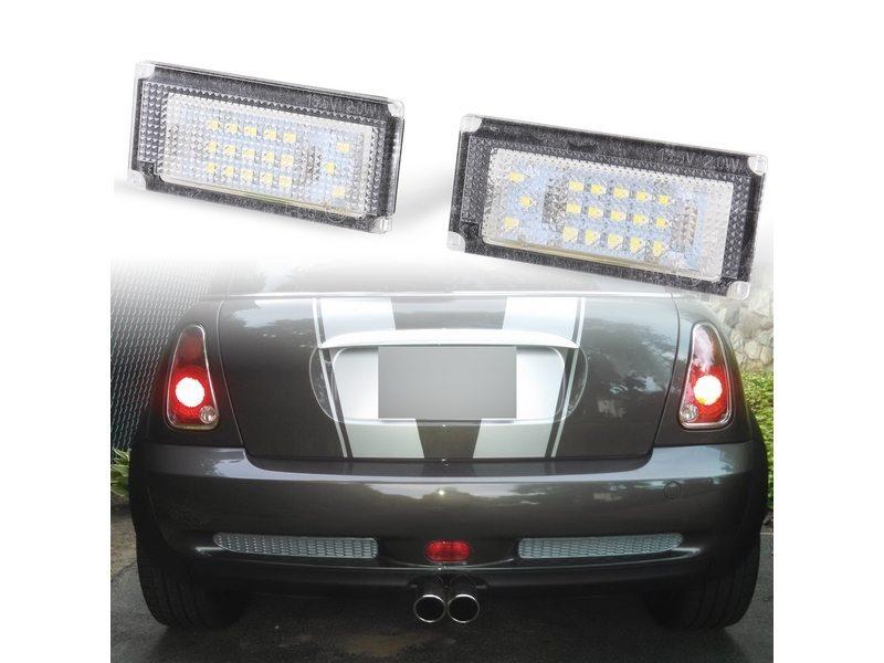新品 追跡可能な安心発送 書留郵便 日時指定 発送から到着まで約平日5-7日 BMW用 Mini Cooper用 R50 R52 キャンセラー付 日本製 LED 36連ナンバー灯 ライセンスランプ R53 R.Mail 送料無料 ミニクーパー用