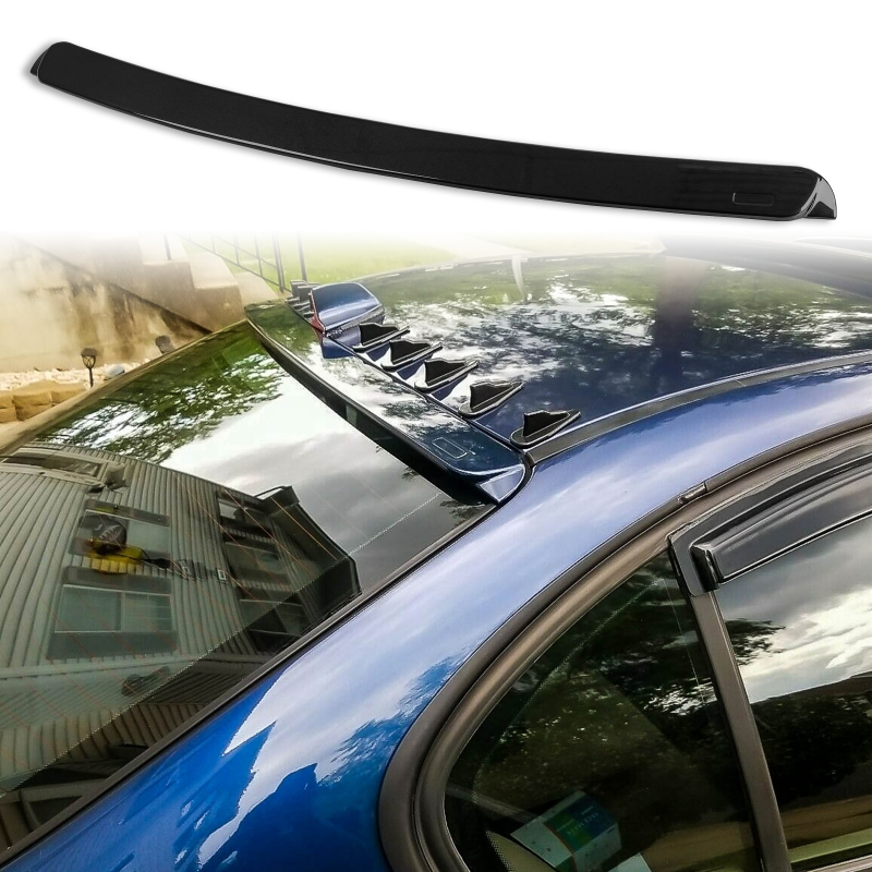 純正色塗装 ABS製 ルーフ スポイラー BMW 3 シリーズ E46 セダン Aタイプ 外装 エアロ パーツ 両面テープ取付【___OCS】