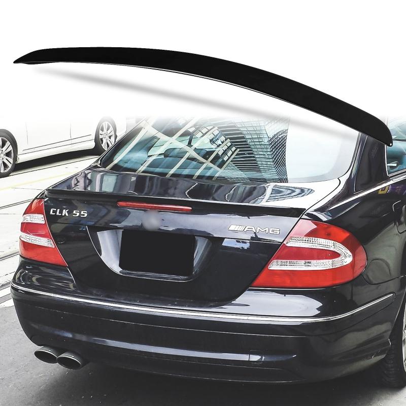 純正色塗装 ABS製 トランクスポイラー メルセデスベンツ CLKクラス W209用 Aタイプ 外装 エアロ パーツ リアスポイラー 両面テープ取付【___OCS】