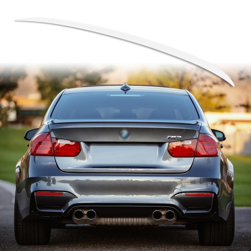 純正色塗装 ABS製 トランクスポイラー BMW F30 F80用 セダン M3スタイル 外装 エアロ パーツ リアスポイラー 両面テープ取付【___OCS】