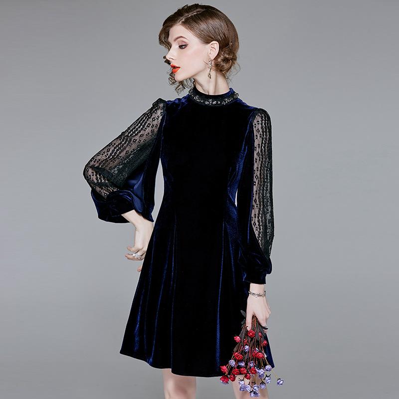 ee2d32f247a0c 楽天市場 レディース ファッション ドレス フレアスカートジャカード ...