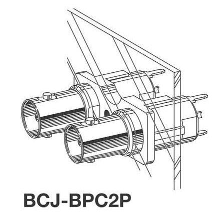 カナレ 75ΩBNC型リセプタクル(ストレート) BCJ-BPC2P 100個入