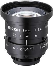 CCTVレンズ RICOH(リコー) FL-CC0814A-2M 焦点距離 8mm 2/3